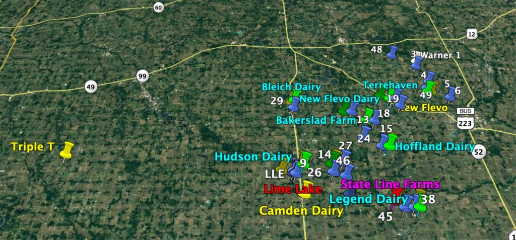 HAB 2017-2020 sites with CAFOs