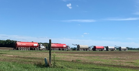 Lineup of Manure Tankers 07.14.2019
