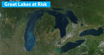 Document the problems with Great Lakes caused by CAFOs