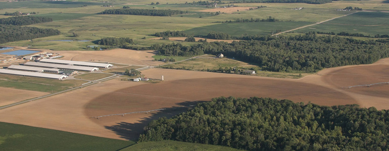 "CAFO waste ""crop circles"""