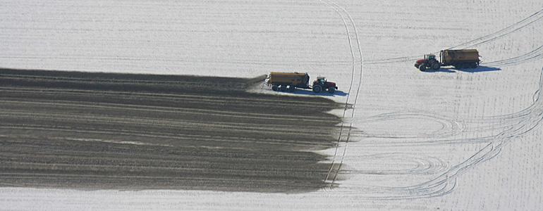 Winter application of CAFO waste on snow covered ground