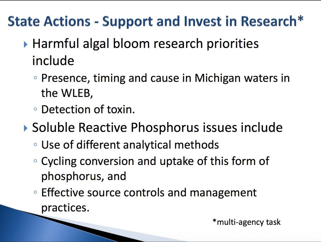 Slide 12 of Powerpoint presentation by Michigan DEQ employees: Lake Erie Domestic Action Plan - June 28, 2017 6:30 PM - 8:30 PM, Adrian College