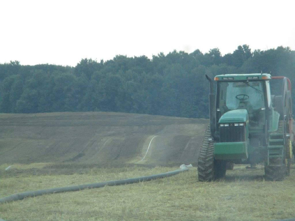 Draglining Manure: Application evening of 8/2/17, 14 hours prior to scheduled rain event on 8/3/17. Pittsford Twp. Hillsdale County, MI