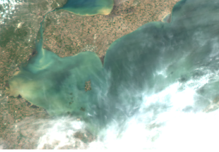 True color image on 16 May 2018 taken by the MODIS on the NASA Aqua satellite.