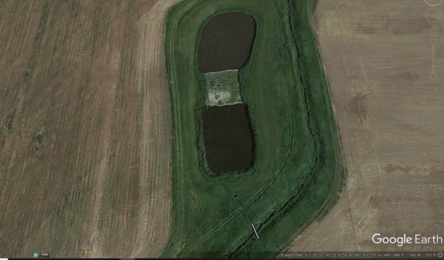 June 2013 Bakerlads Constructed wetlands Google Earth