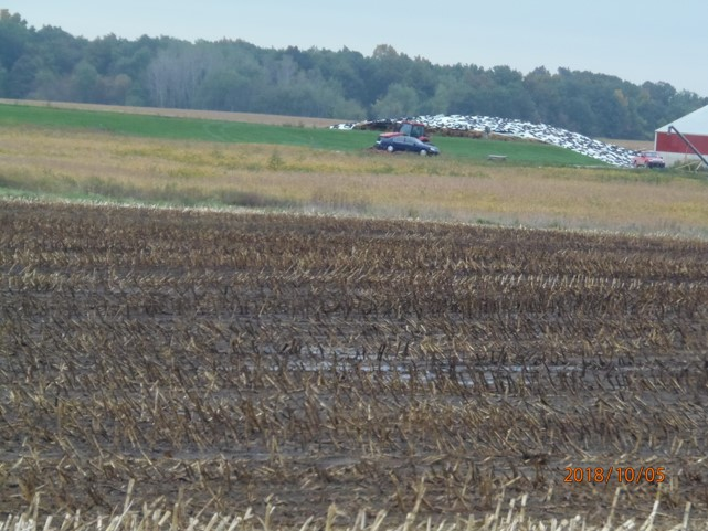 Liquid manure applied to Bakerlads field, east side of Morey Hwy. between Beecher and Cadmus Rds