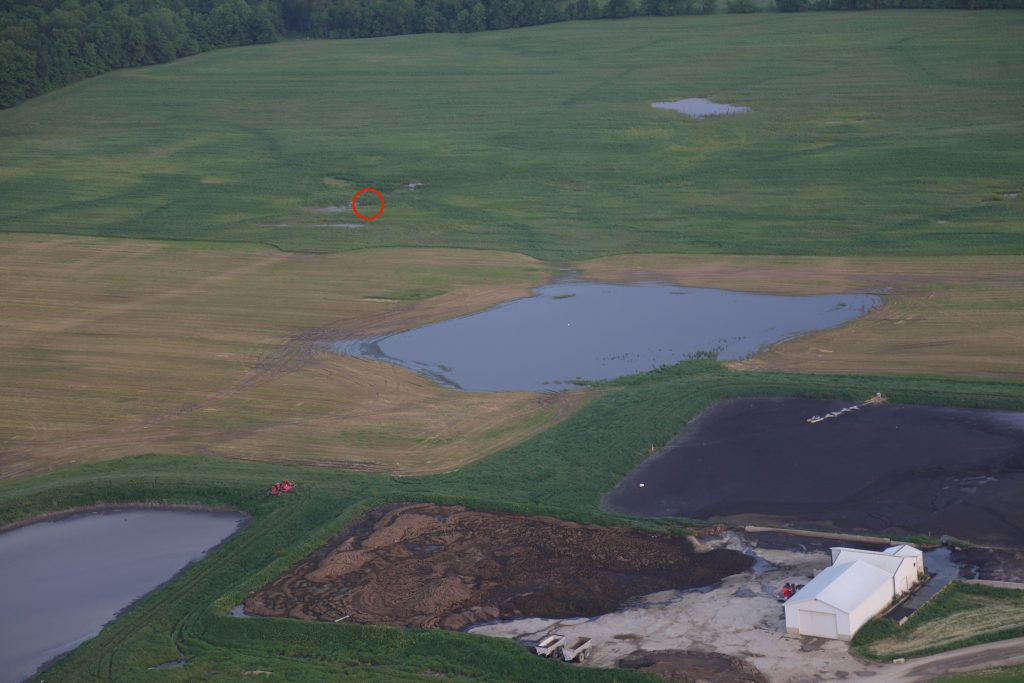 New Flavo Dairy lagoon runoff pumped to tile riser