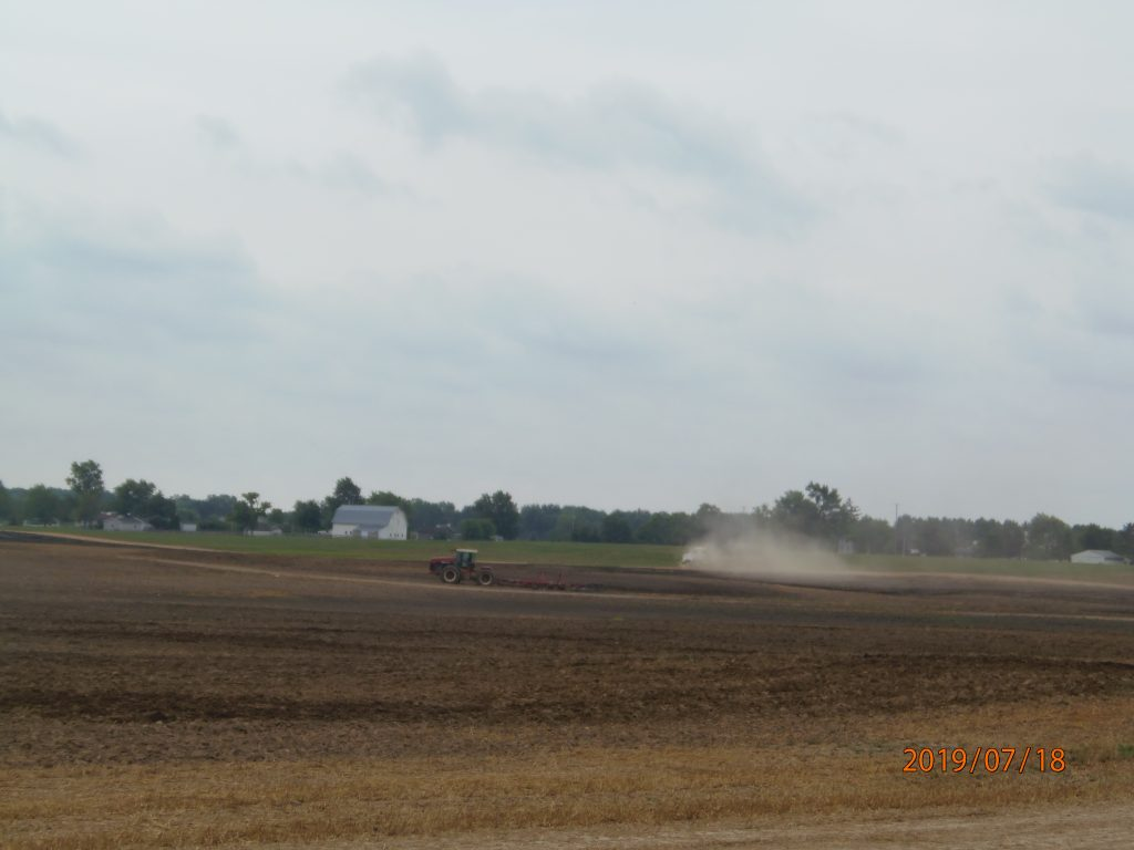 New Flevo East side of Sword between Plank and Beecher 7.19.2019 slurry solids stockpile